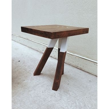 Custom Made The Triad - Cantilevered Walnut Side Table