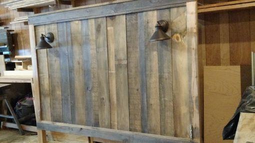 reclaimed headboard hand crafted barnwood headboard with lights reclaimed headboard
