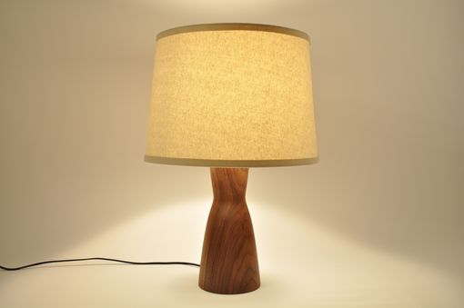 Custom Made Modern Walnut Wood Lamp