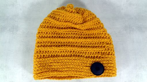 Custom Made Gold Dark Yellow Winter Or Summer Slouchy Beanie Hat Baggy Beanie Hat Hipster Beanie