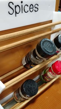 Custom Made Hanging Acrylic Spice Rack