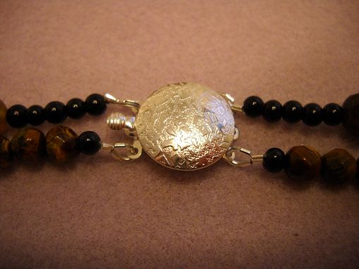 Custom Made Black Onyx And Tigers Eye Necklace