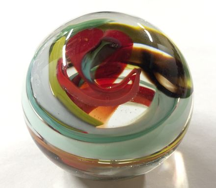 Custom Made Swirl Glass Paperweight