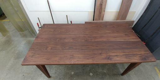 Custom Made Solid Walnut 6 X 3 Foot Dining Table W/ Bench