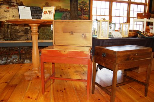 "Custom Made ""200+ Year Old White Pine"",Document Box Side Table"