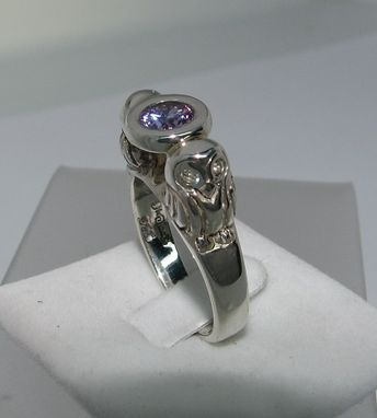 Custom Made Owls Ring In Sterling Silver