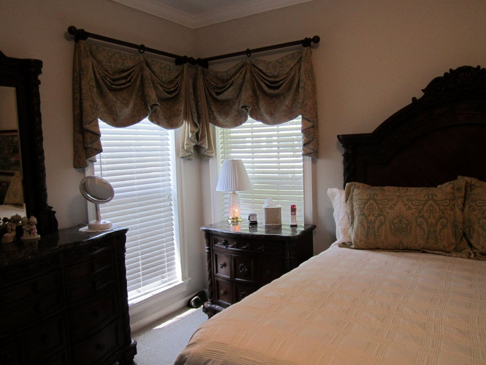 Custom Valances For Master Bedroom With Matching Pillow Shams by ...