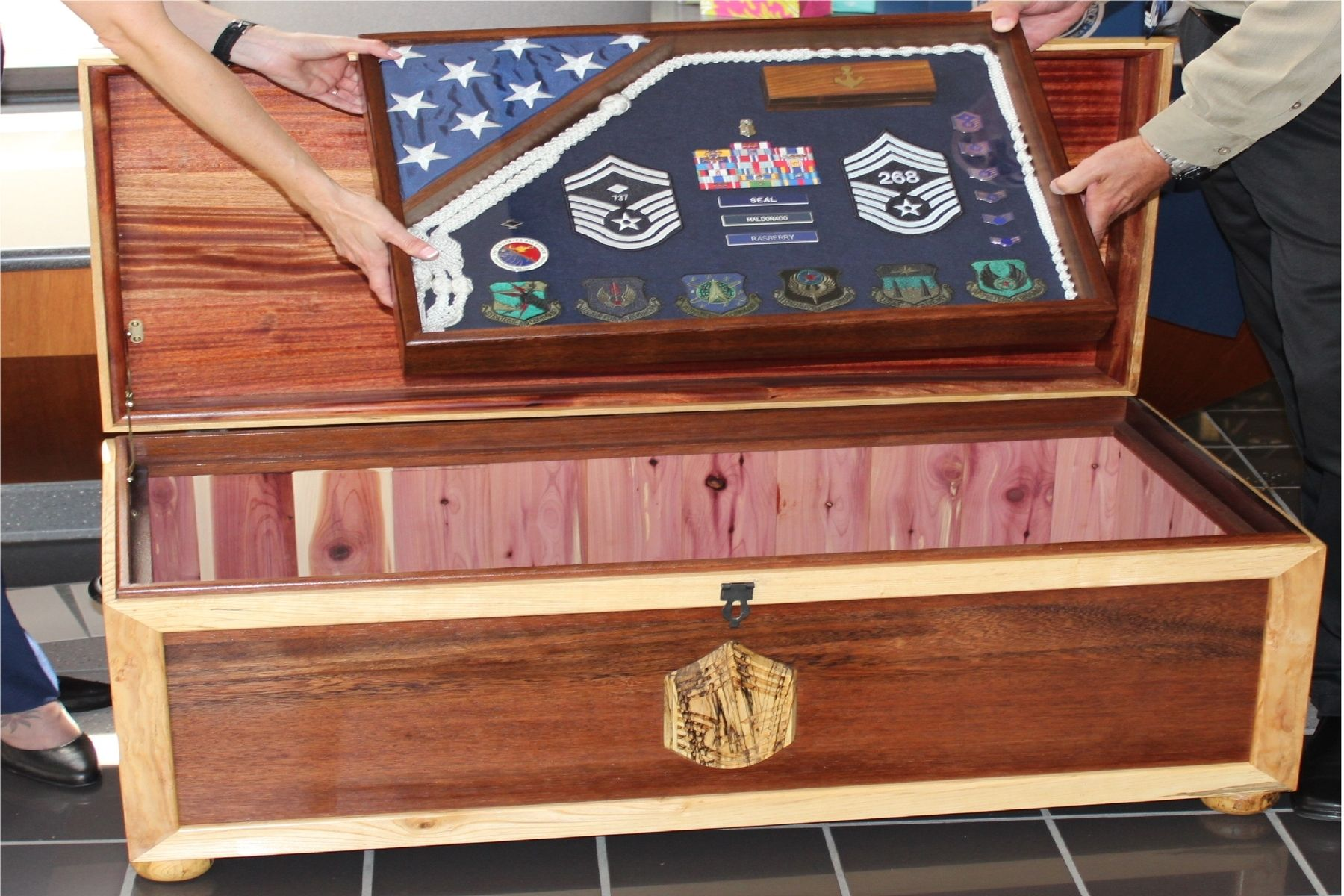 Very Handmade Sea Chest - Military Retirement Gift by Blackwater  VW35