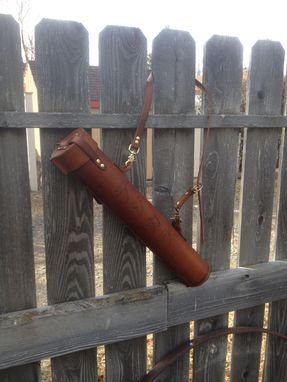 Custom Made Leather Fly Fishing Tube