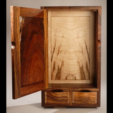 Custom Made Koa Wall Cabinet