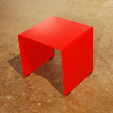 Custom Made Cubic Table - Solid Plate Steel Side Table