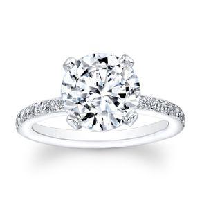 Las 2ct Antique Round Brilliant Soliatre Engagement Ring By Eric Stein