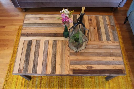 "Custom Made Rustic Reclaimed & Sustainably Harvested Wood Coffee Table ""Crux''"