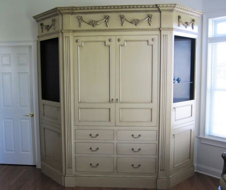 Custom Made Wall Unit Entertainment Center Cabinet