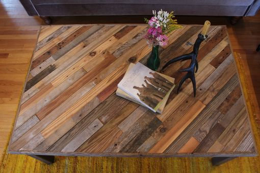 "Custom Made Rustic Reclaimed & Sustainably Harvested Wood Coffee Table ""Perseids''"