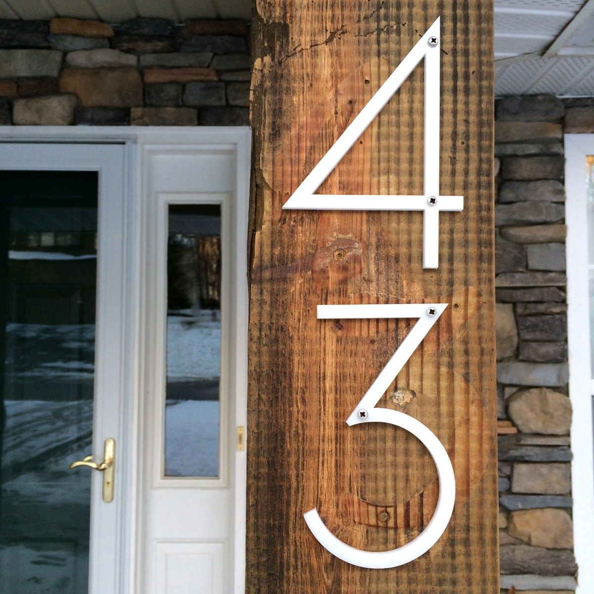 custom laser cut modern house numbers by marquee moon