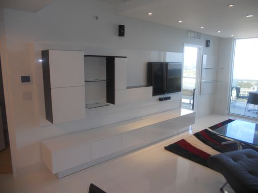 Custom Made Wall Unit Laquered Thermo Foil