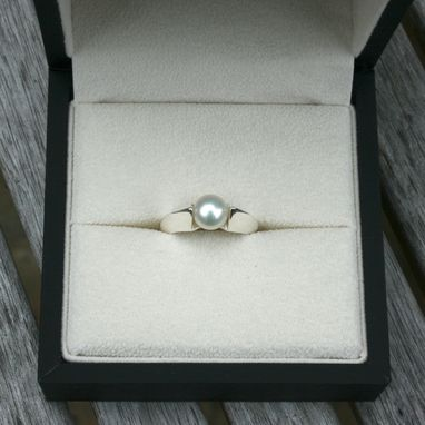Custom Made Pearl Ring, Silver Ring, Stacking Rings