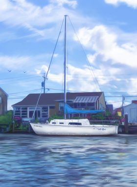 Custom Made Custom Home, Boat, Garden, Farm, Cabin Portrait Painting Or Drawing