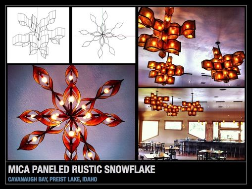 Custom Made Snowflake Chandelier