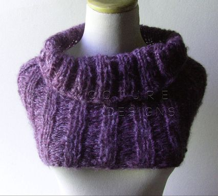 Custom Made The Knit Ribbed Cowl For Women / Soft And Warm