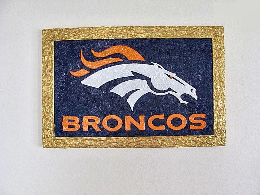 Broncos Wall Art hand made denver broncos logo - 3d wall art - signage3d photo