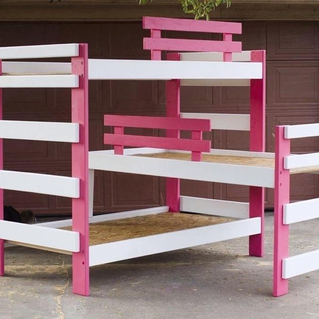 Hand Made Triple Bunk Bed By Masters S Touch Woodshop Custommade Com