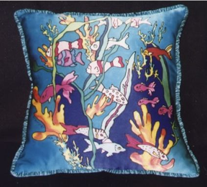 Custom Made Tropical Fish Life: Pillow, Scarf, Wall Hanging