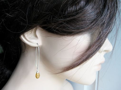 Custom Made Citrine Earrings Golden Citrine