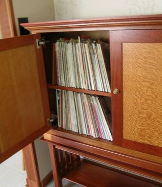 Custom Made Cabinet For Cookbooks And Magazines