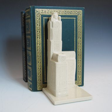 Custom Made Pottery Bookend - Leveque Tower