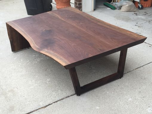 Custom Made Stunning Live Edge Waterfall Live Edge Coffee Table