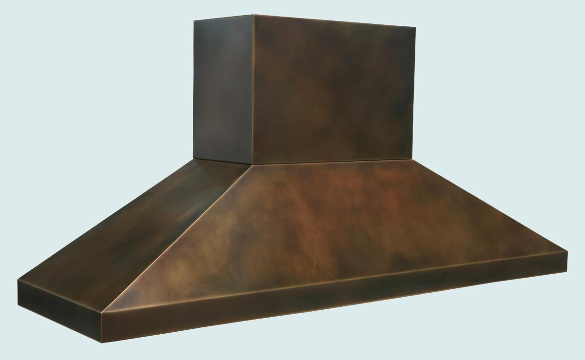 Hand Made Bronze Range Hood With Stack Amp Pyramid Shape By