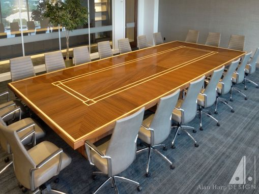 Custom Made Sapele And Maple Conference Table