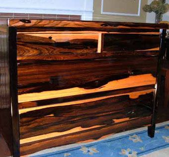 Custom Made Macasser Ebony Dresser