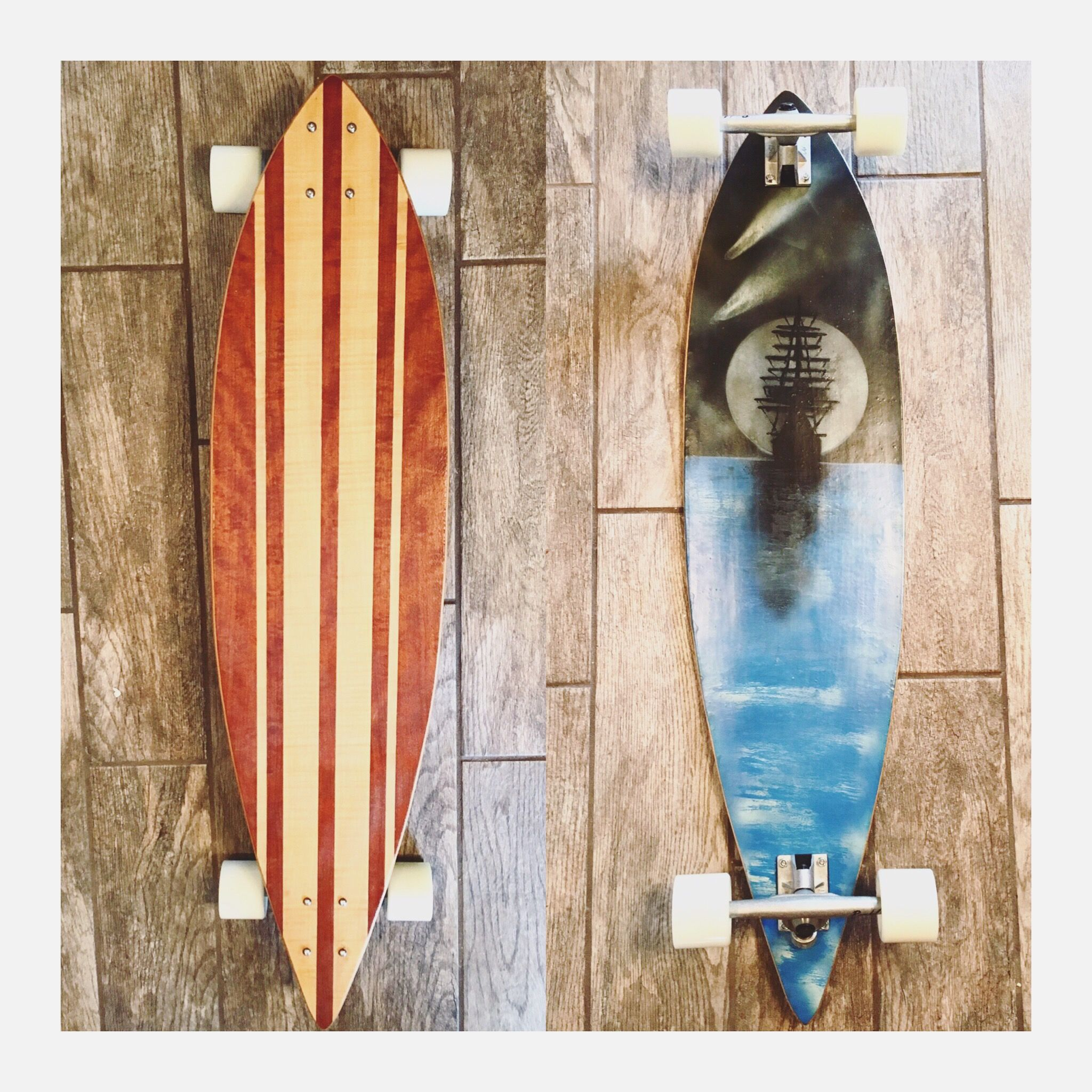Hand Crafted Custom Designed Longboard Deck By Chip Off
