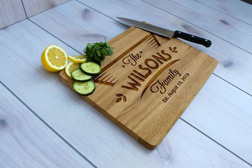 Custom Made Personalized Cutting Board, Engraved Cutting Board, Custom Wedding Gift – Cb-Wo-Wilsons Family