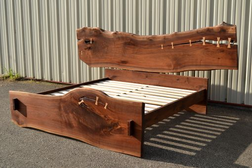 Custom Made Live Edge Walnut King Sized Bed