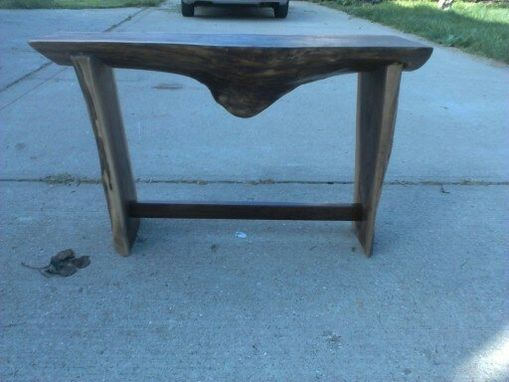 Custom Made Live Edge Solid Walnut Table