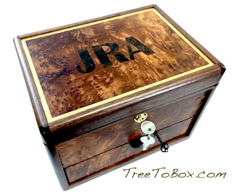 Custom Made Custom Hand-Made Wooden Gun Box