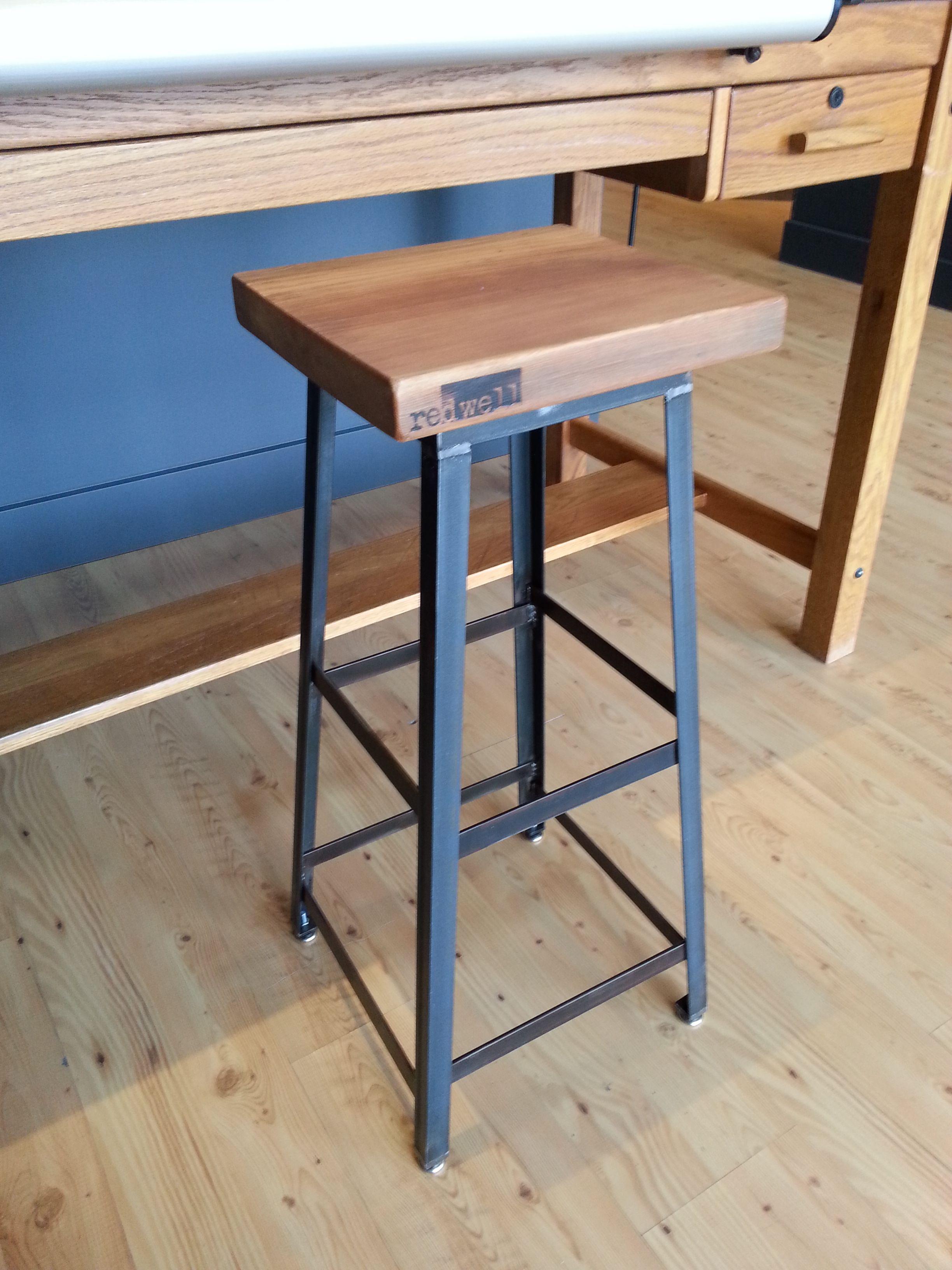 Tremendous Re Dwell Industrial Stool Customarchery Wood Chair Design Ideas Customarcherynet