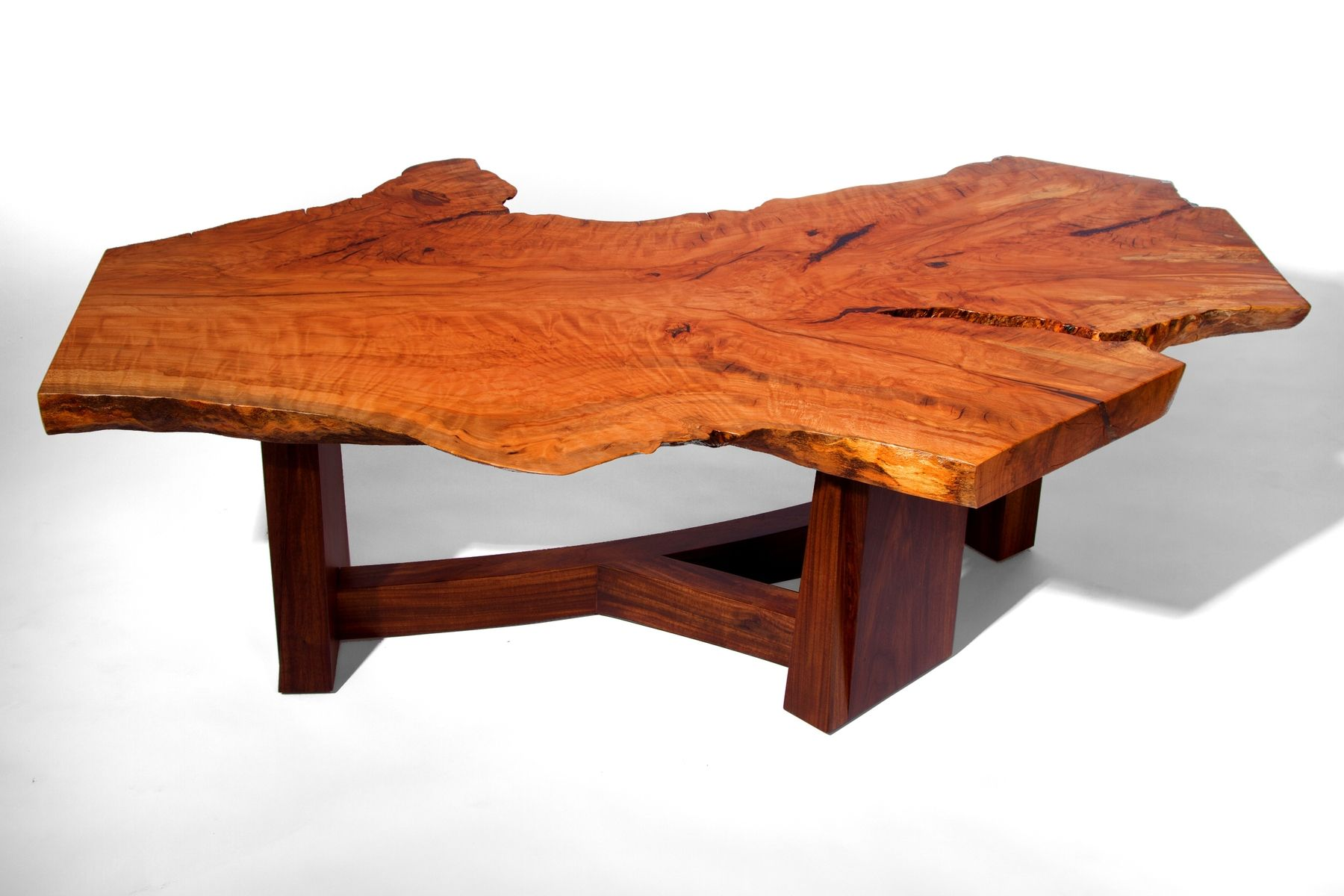 Hand Made Live Edge Beech Slab Coffee Table by J Holtz Furniture