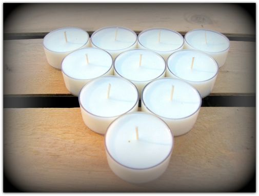 Custom Made Unscented Soy Tealights