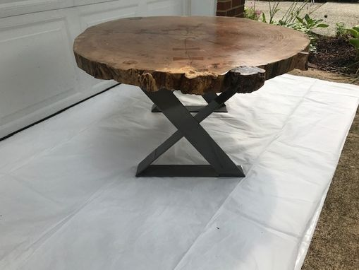 Custom Made Custom Made Live Edge  Hickory Coffee Table