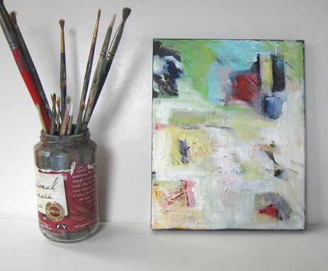 "Custom Made Original Acrylic Abstract Painting, 8"" X 10"", Small Stretched Canvas Art"