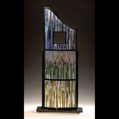 Custom Made Fused Glass Sculpture