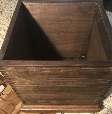 Custom Made The Rustic Collection: Rustic Wooden Rubbish Bin