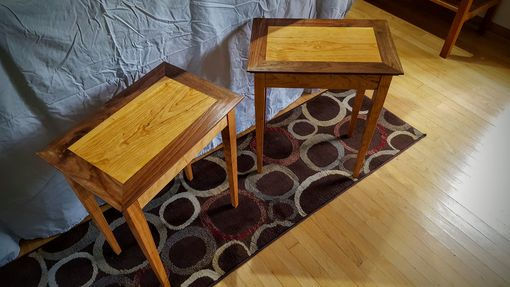 Custom Made End Tables, Cherry/Walnut ($300 Each)