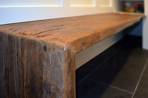 Custom Made Rustic Mudroom Bench