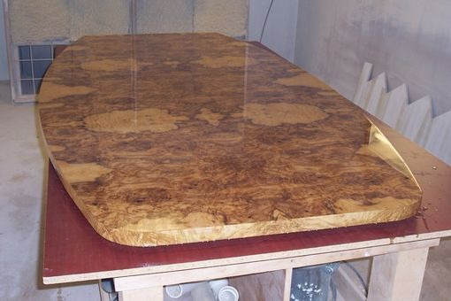 Custom Made Olive Ash Burl Conference Table